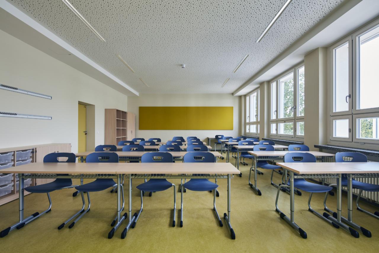 Klassenzimmer Gelb
