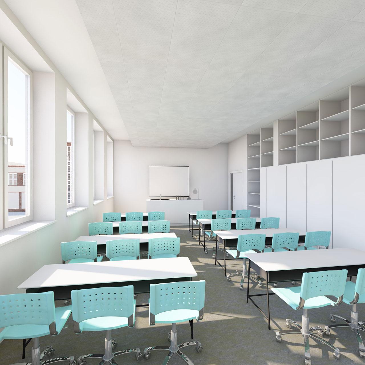 Perspektive Klassenzimmer